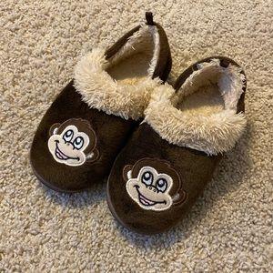 Soft & Fuzzy Monkey Slippers size XL (11-12)